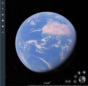 新しい Google Earth は Chrome ブラウザーでも利用可能