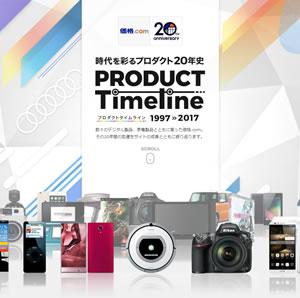 価格.com も「20周年記念サイト」を公開中